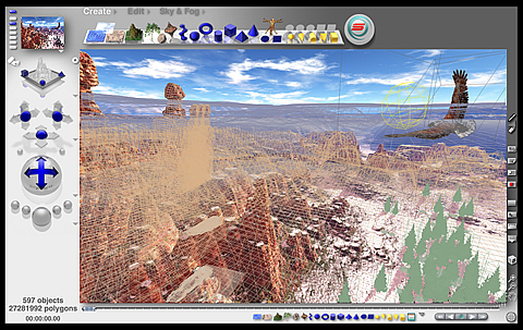 Bryce 3D interface